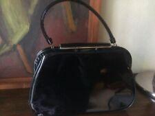 Handtasche Vintage USA schwarz Lack seltene Form 50er Jahre guter Zustand
