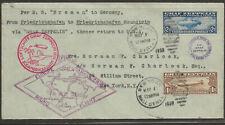 5/1/1930 Wall St NY 1st Round Wrld Flight So America Friedrichshaffen C14-15 Zep