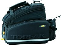 Topeak MTX Trunk Bag DX Bicycle Trunk Bag with Rigid Molded Panels Black