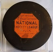 Vintage 1962-64 NHL ART ROSS CCM TYER  MADE IN USA GAME PUCK pat # 2226516 RARE