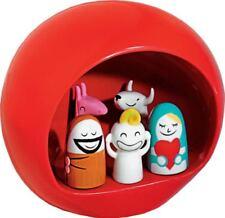 Alessi Amgi10 R Presepe Groupe en porcelaine Decoré À la Main