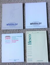 "NEW 4 Memo Pads 4.25"" x 5.5"" White Plain Sheets Top Glued Notebooks Scratch Pads"
