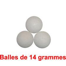 3 balles de baby foot en liege 14g - blanche - balle babyfoot Qualité Bonzini