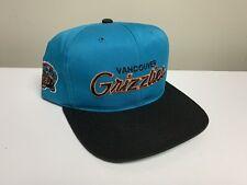 Vintage Vancouver Grizzlies Script Snapback Sports Specialties Tcw Nba Rare Teal