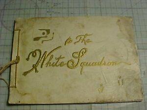 ORIGINAL LATE 1800s USN THE WHITE SQUADRON SHIPS / FLEET BOOK