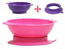 Uinlui Eco-Friendly Suction Wide Bowl Made From 100% Sugarcane Bpa Free No Mess