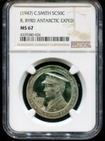 1947 C Smith So Called Half Dollar R. Byrd Antartic Exped NGC MS67