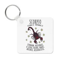 Scorpio Horoscope Keyring Key Chain - Star Sign Zodiac Birthday Astrology
