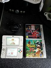 New Nintendo 3ds White And 3 Games