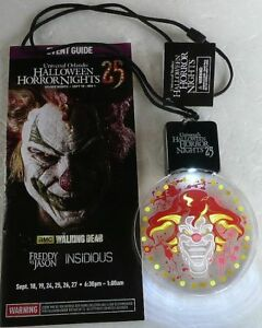 2015 UNIVERSAL HALLOWEEN HORROR NIGHT JACK CLOWN LIGHTED ANIMATED LANYARD GUIDE
