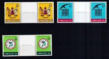 Gibraltar 1982 postfrisch Stegpaare MiNr. 453-455