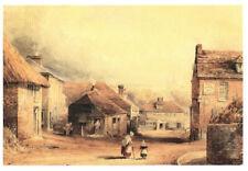 Wharf Hill, Winchester, C.1860 Watercolour Hampshire, England Rare Art Postcard