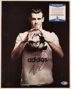GARETH BALE Signed 11x14 Photo REAL MADRID WALES Autograph C ~ Beckett BAS COA