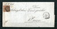Bayern Brief EF 4 II 1856 Augsburg - Prien Mühlradstempel 18 Königliches Landger