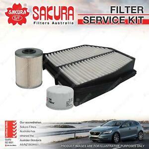 Sakura Oil Air Fuel Filter Service Kit for Suzuki Grand Vitara JB 1.9 DDiS 05-on