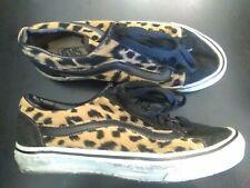 True Vtg 80s 90s Vans velvet Usa Leopard old skool skateboarding sneaker shoes 8