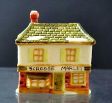 "Vintage Ceramic Scrooge Marley House Shelf Table Decor About 3"""