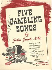 Gambler's Song Big Sandy River Piano Med Voice Sheet Music 1946 J J Niles