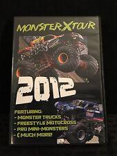 Monster X Tour 2012 Monster Truck DVD NEW - Featuring BIGFOOT, Rock Star & More!