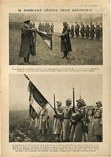 Président Raymond Poincaré Médaille Militaire Régiment de Tirailleurs 1918 WWI