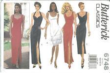 B 6748 sewing pattern Elegant DRESS fun Fringe sew Prom Bridal Evening 6,8,10,12