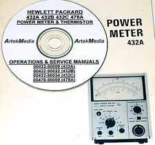 HP 432A 432B 432C 478A Operating & Service Manauls 6vol