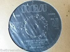 "VINYL 7"" SINGLE - I WOULDN'T HAVE MISSED IT FOR THE WORLD - RONNIE MILSAP - RCA1"