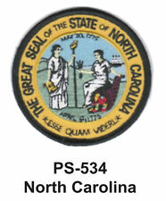 NORTH CAROLINA State Seal Embroidered Patch-3""