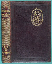 Jose de ESPRONCEDA. Obras Poeticas Completas. Madrid, Aguilar 1945