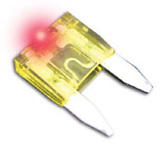 MINI FUSES w/LED THAT GLOWS when IT BLOWS! Pack of 5