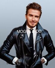 DAVID BECKAM GQ MAG REAL 100% PURE LEATHER JACKET-ALL SIZES AVAILABLE