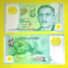 NEW Singapore $5 Five Dollar Polymer Note UNC