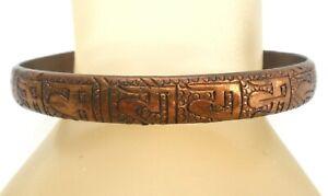 Solid Copper Cuff Bracelet Handmade Southwestern Jewelry Vintage