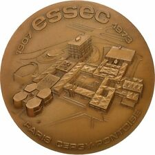 [#552355] France, Medal, ESSEC, Paris-Cergy-Pontoise, 1974, SUP, Bronze