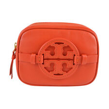 NWT Tory Burch Classic Holly Cosmetic Makeup Case Bag Blood Orange