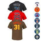 MLB Retired Team Player Name & Number Jersey T-Shirt Collection MAJESTIC - Men's