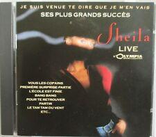 """SHEILA - RARISSIME CD """"JE SUIS VENUE TE DIRE QUE JE M'EN VAIS"""" - 2ÈME ÉDITION"""