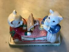 Fitz & Floyd Kittens Of Knightbridge Covered Butter Dish - 1988 - Excellent