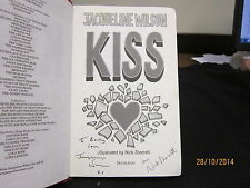 KISS JACQUELINE WILSON & NICK SHARRATT SIGNED HARDBACK NO DJ 2007