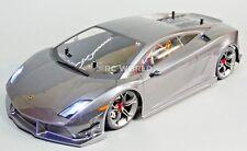 Custom Tamiya 1/10 RC Car LAMBORGHINI GALLARDO Gun Metal L.E.D Lights -RTR-