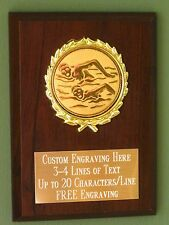 Swimming/Water Sports Award Plaque 4x6 Trophy FREE engraving