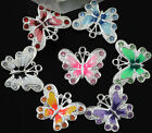 5/10PCS Multicoloured Enamel Animal Butterfly Pendant Charms For Necklace