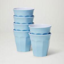 Barel Designs Classic Blue Melamine Tumblers 260mL - Set of 6 Picnic Cups