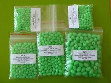 500 DFS 5x7,6x8,7x10,8x12,10x15  HARD OVAL GREEN LUMO FISHING RIG BEADS 100 ea.