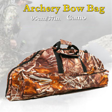 """37"""" Archery Compound Bow Bag Arrow Carrying Case Shoulder Hunting Quiver Holder"""