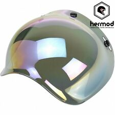 Biltwell Gringo / Bonanza Bubble Clip on Motorcycle Helmet Visor -Rainbow Mirror