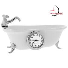 CLAWFOOT BATHTUB VINTAGE STYLE MINIATURE COLLECTIBLE MINI CLOCK GIFT