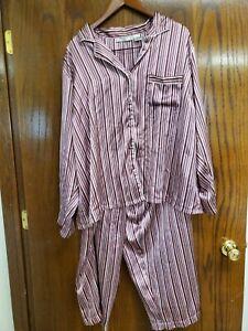 Woman's Chanteuse Plus Size Pajama Set Sz 3x