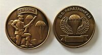 US Army Airborne U.S. Paratrooper Challenge Coin  (101st 82nd XVIII SF Ranger)