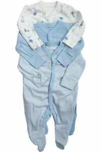BNWT Mothercare Boys 3 Pack Sleepsuits - Free Postage